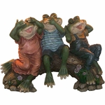 Three Wise Frogs Statuary