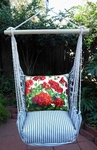 Ticking Black Geranium Hammock Chair Swing Set