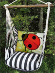 Ticking Black Ladybug Garden Hammock Chair Swing Set