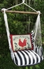 Ticking Black Le Coq Rouge Hammock Chair Swing Set