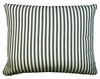 Ticking Black Outdoor Pillow