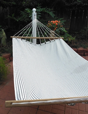 Ticking Black Sundure Fabric Hammock - Click to enlarge