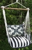 Ticking Black Tile 2 Hammock Chair Swing Set