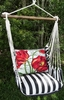 Ticking Black Tulips Hammock Chair Swing Set