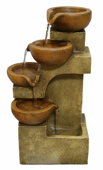 Tiered Clay Pots Fountain - Click to enlarge