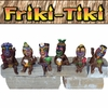 Small Tiki Party Shelf Sitters (Set of 6)