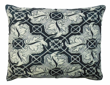 Tile Black 1 Outdoor Pillow - Click to enlarge