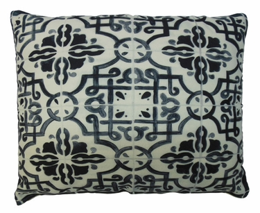 Tile Black 2 Outdoor Pillow - Click to enlarge