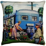 Trailer to Go Outdoor Pillow