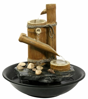 Tranquil Bamboo Tabletop Fountain - Click to enlarge