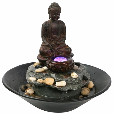 Tranquil Buddha Tabletop Fountain - Click to enlarge