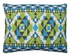 Tribal Blue Outdoor Pillow