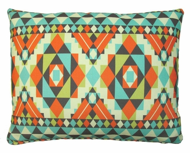 Tribal Orange Outdoor Pillow - Click to enlarge