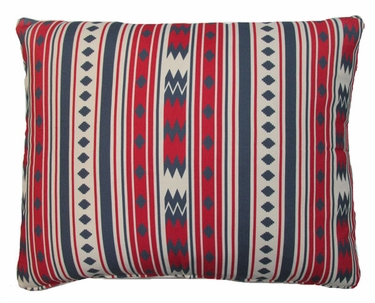 Tribal Vertical Red Outdoor Pillow - Click to enlarge