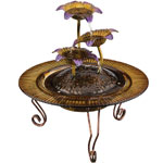 Triple Flower Tabletop Fountain