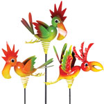Tropical Bird Garden Stakes (Set of 3)