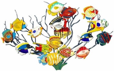 Tropical Fish on Coral Wall Art - Click to enlarge