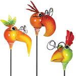 Tropical NerdyNeck Garden Stakes (Set of 3)