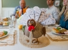 Turkey on the Table - Thanksgiving Gratitude Turkey