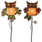 Glass Owl Plant Stakes  (Set of 2)