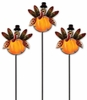 Glass Turkey Plant Picks (Set of 3)