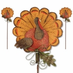 Turkey Pumpkin Decoration Stakes (Set of 4)