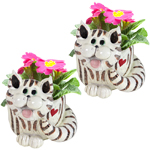 Twin Cat Planters (Set of 2)