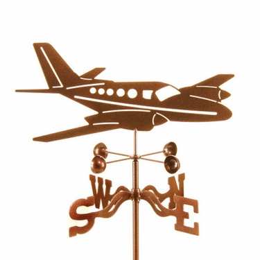 Twin Motor Plane Weathervane - Click to enlarge