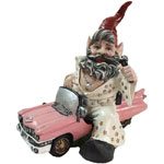 Vegas Gnome in Pink Cadillac