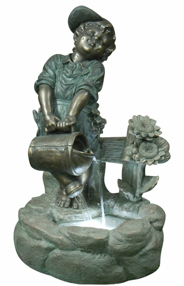 Watering Boy LED Light Fountain - Click to enlarge