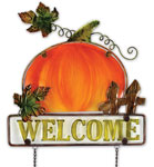 Welcome Pumpkin Sign