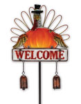 Welcome Turkey Garden Stake