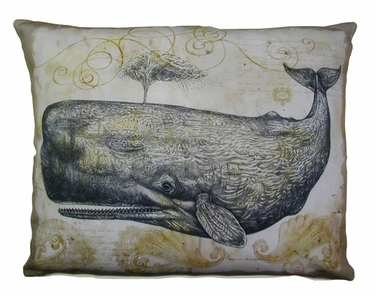 Whale Outdoor Pillow - Click to enlarge