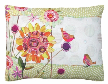 Whimsy Birds Outdoor Pillow - Click to enlarge