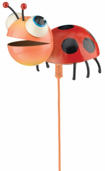 Whimsy Ladybug Garden Stake - Click to enlarge