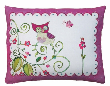 Whimsy Owl Outdoor Pillow - Click to enlarge