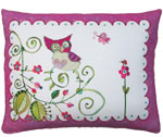 Whimsy Owl Outdoor Pillow