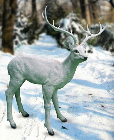 White Deer Statue - Large - Click to enlarge