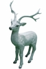 White Deer Statue - Medium