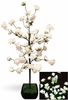 White Rose Bush w/64 LED Lights