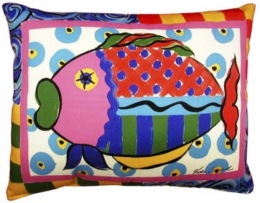 Wild Fish Outdoor Pillow - Click to enlarge