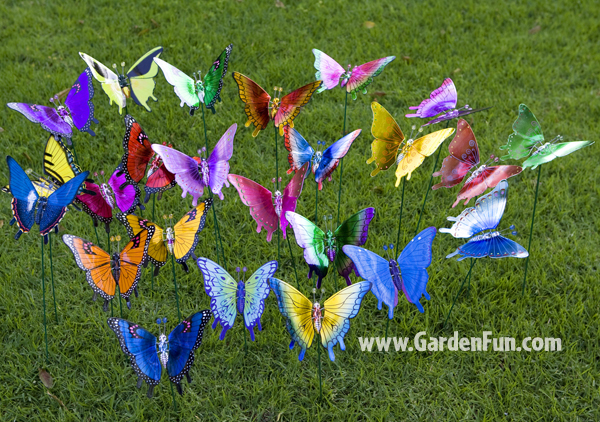 Windy Wings Butterfly Garden Stakes Set of 6 only 2399 at