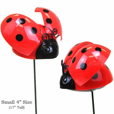 Windy Wings Ladybug Garden Stakes (Set of 6) - Click to enlarge