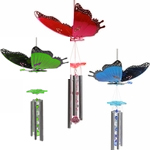"11"" Large Butterfly Wind Chimes by Exhart"