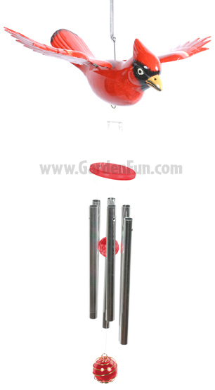 WindyWings Cardinal Wind Chime by Exhart - Click to enlarge