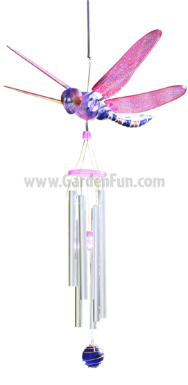WindyWings Dragonfly Wind Chime by Exhart - Click to enlarge