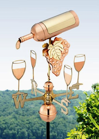 Wine Bottle & Glasses Weathervane - Click to enlarge