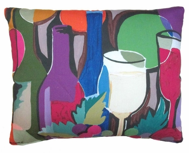 Wine Bottles Outdoor Pillow - Click to enlarge