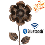 Wireless Speaker Stake - Bronze Flower