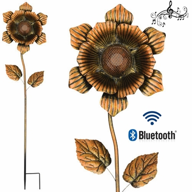 Wireless Speaker Stake - Gold Flower - Click to enlarge